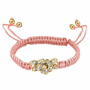JUICY COUTURE Pave Flower Pink Friendship Bracelet